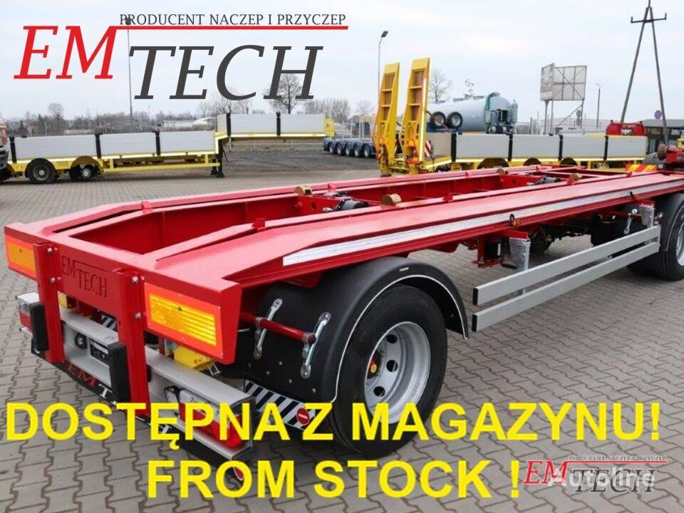 ny EMTECH Z MAGAZYNU! STOCK AVAILABLE! 2.PKR-O19,5'' (DIN) anhænger containerchassis