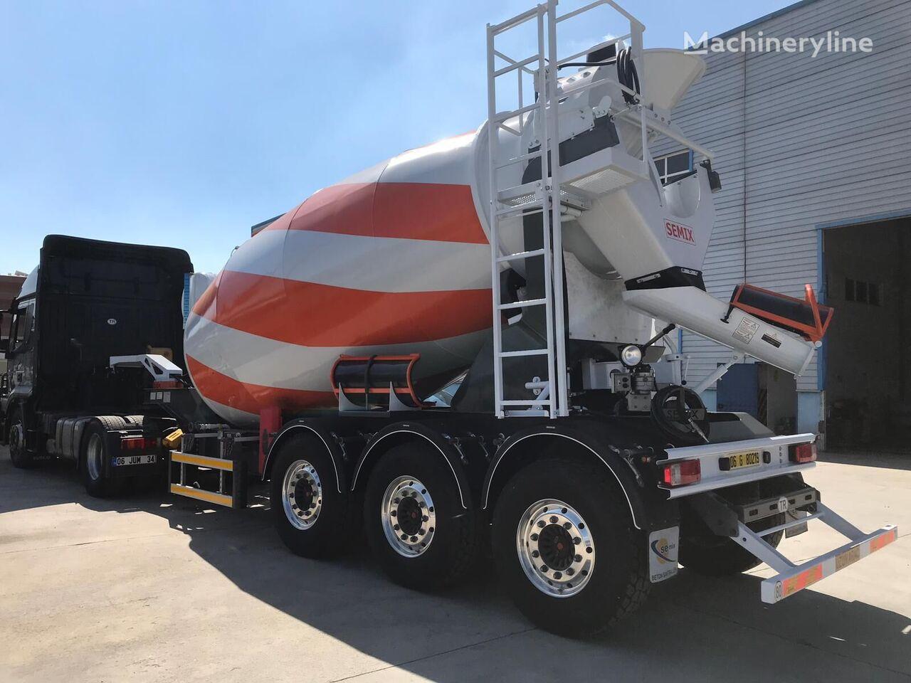 ny SEMIX Semi Trailer Mixer 12 betonblander lastbil