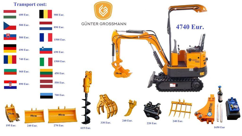 ny Günter Grossmann www.gg800.eu GG800 Minikoparka minigraver