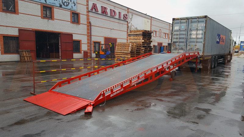 ny AUSBAU Mobile loading ramp, verladerampe, rampa mobilna, nakládací ramp mobil læsserampe