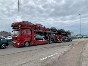 SCANIA 580 V8 KTT Metago/Supertrans 10-Autos Euro6 autotransport + anhænger autotransport