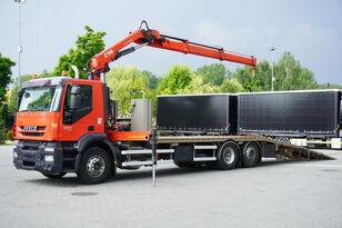 IVECO Stralis 360, EEV, 6x2, 7.8m tow truck, lift axle , CRANE HIAB ma bjærgningskøretøj