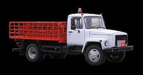 ny GAZ KT-602-01 fladvogn lastbil