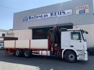MERCEDES-BENZ ACTROS 2536 FASSI 235 fladvogn lastbil