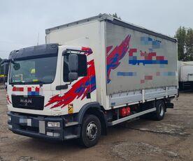 MAN TGM 15.250 from FR, 214000 km lastbil glidende gardiner