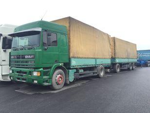 DAF 95.430 ATI EURO2 + SCHARZMULLER presenning lastbil + anhænger presenning