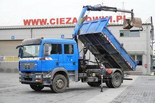MAN TGM 18.240 , DOKKA 7 seats , A/C , tipper + crane PK , grapple + tippelad lastbil