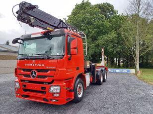 MERCEDES-BENZ Actros 3360 -6x4-hiab crane-steel suspension-alcoa tømmervogn